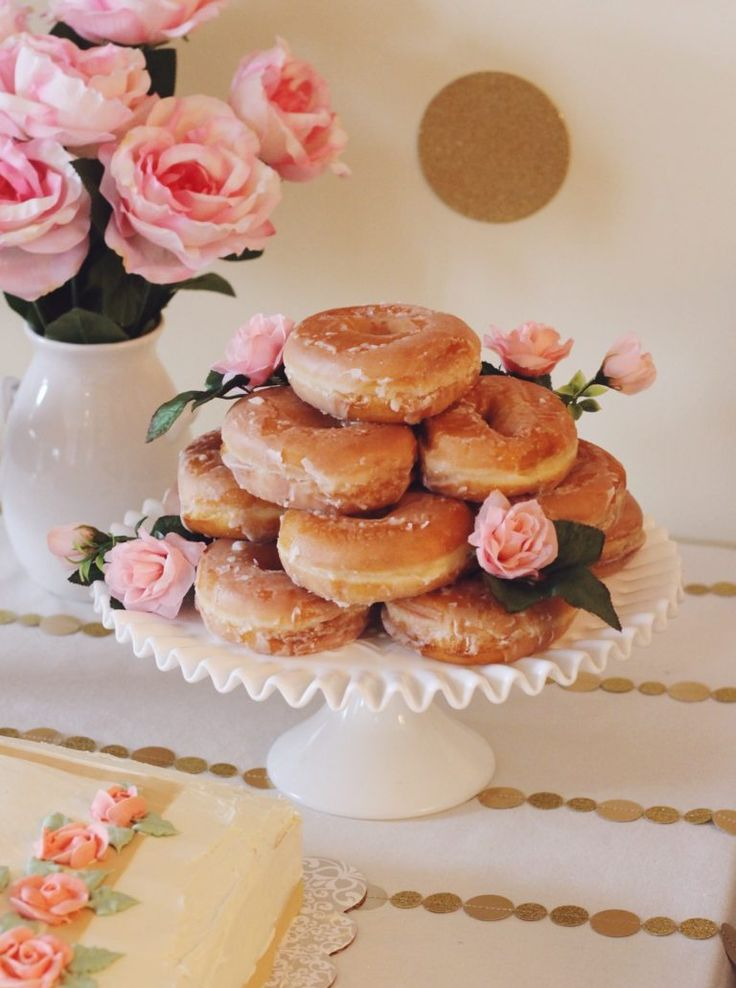 Every first birthday party needs a donut cake!