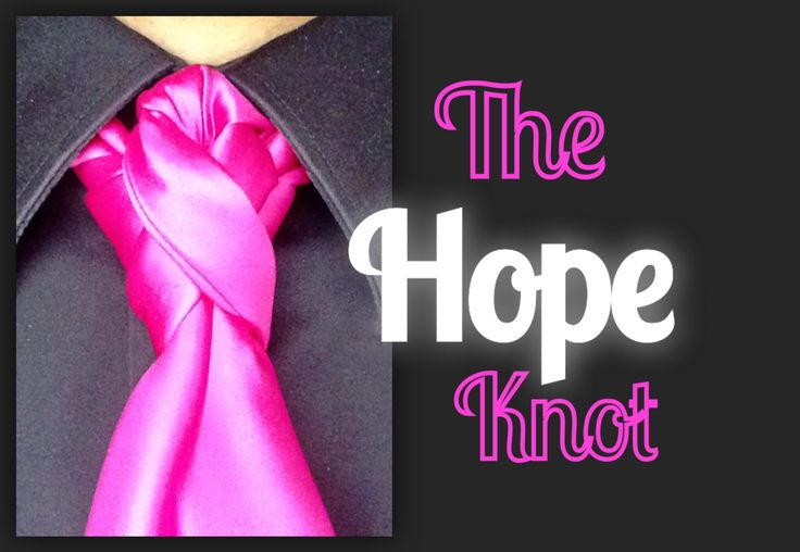 The Hope Knot: how to tie a tie
