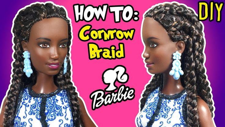 How To Cornrow Braid with Barbie Doll - DIY Barbie Hairstyles Tutorial -...