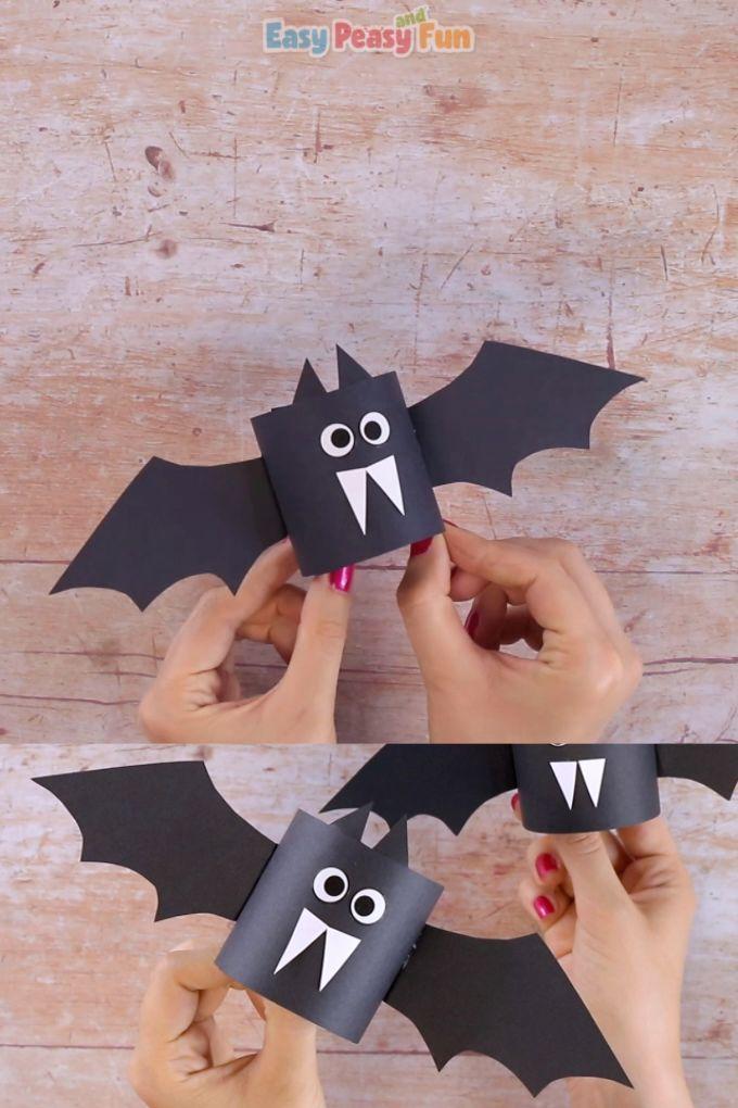 Einfaches Paper Bat Craft   – Basteln