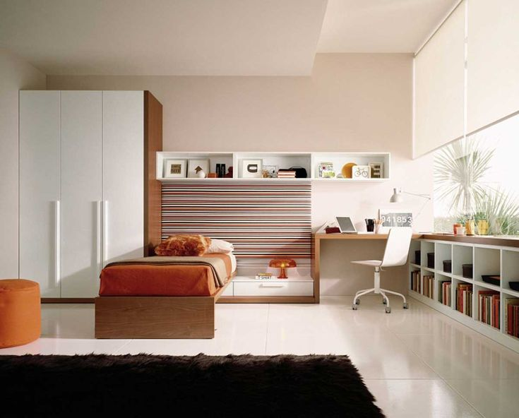 Bedroom Furniture White Wardrobe Ideas With Minimalist Bedroom Design Idea Contemporary Brown Bed And Modern Work Table And White Chairs Ideas Comfortable Modern Bedroom Furniture Ideas That Will Inspire You mid century modern bed frame. modern beds. contemporary bed frame.