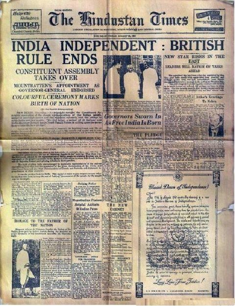News on India's independance