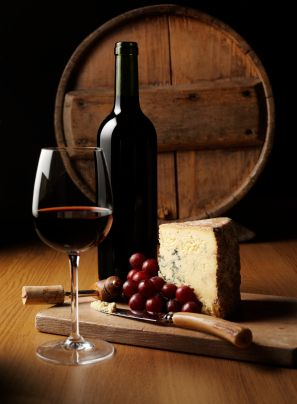 Wine and cheese... a classic food pairing...