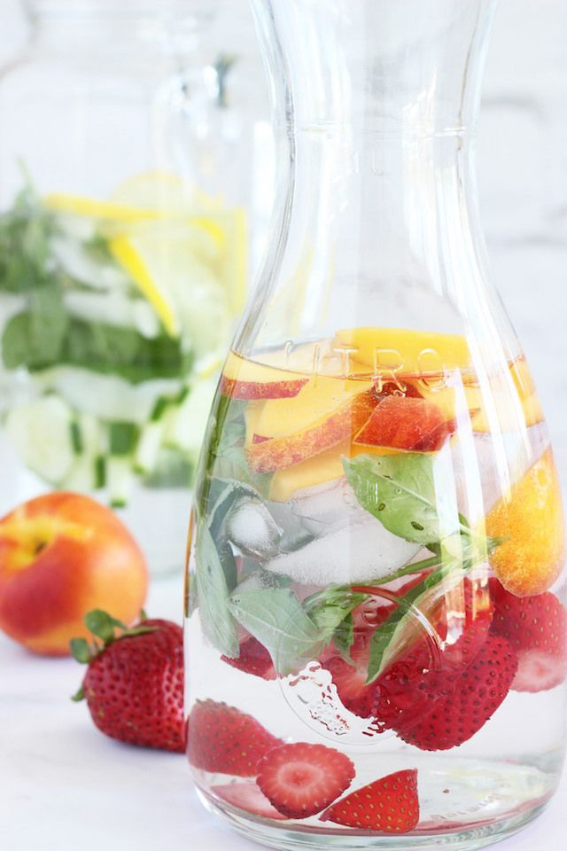 Infused water – full of fresh fruit and herbs is not only pretty to look at, it's super-refreshing as well!