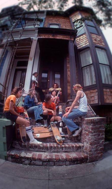Skateboarders in San Francisco, 1977. Photo by Hugh Holland
