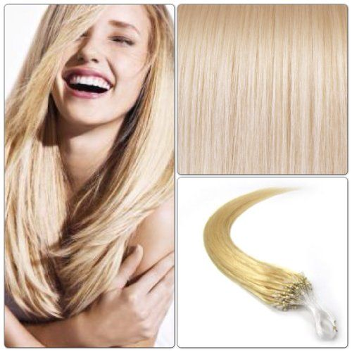 100 EXTENSIONS DE CHEVEUX NATURELS 70CM POSE A FROID EASY LOOP BLOND PLATINE #613 | Your #1 Source for Beauty Products