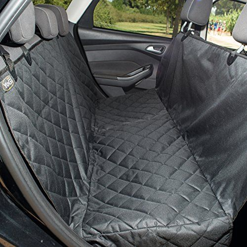 Luxury Pet Seat Cover for cars -Machine Washable - PADDED-QUILTED Dog Hammock Style - Waterproof Dog Car Seat Cover for Trucks & SUVs - Non Slip - Free Bonus Sticky Roller by YoGi Prime