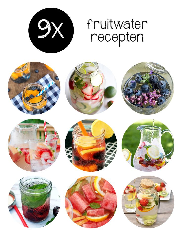 Komt het water inmiddels je neus uit maar wil je liever niet aan de frisdrank, dan zijn deze fruitwater recepten een goed alternatief.