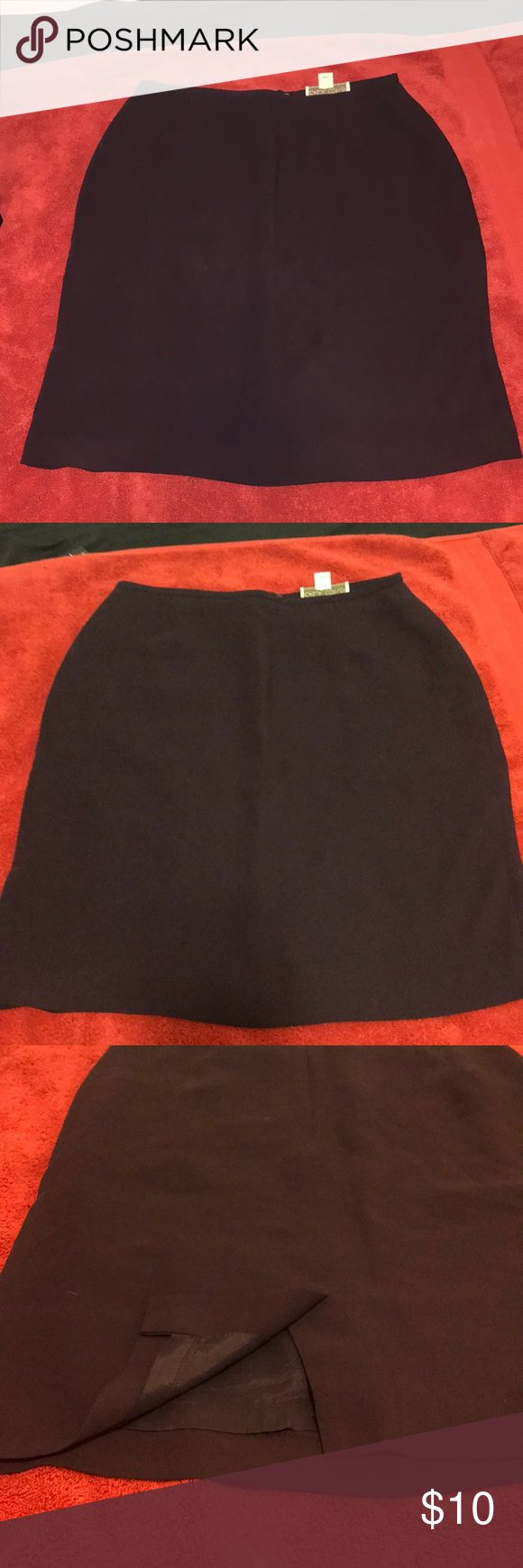 Dark Purple Pencil Skirt Perfect condition. 21 1/2 long & 15inch @ waist. Size 10 but it runs allot more small. I'm usually a size 4 & I'm 130lbs Skirts Pencil