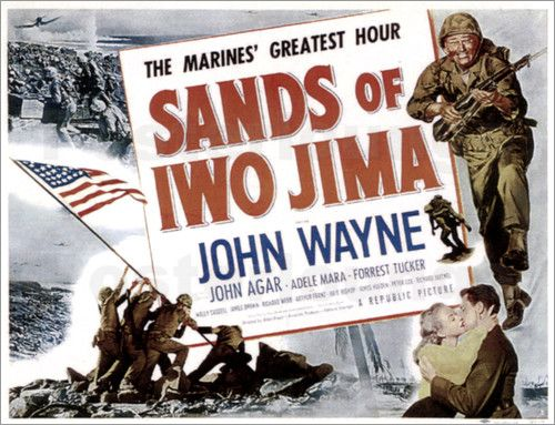 SANDS OF IWO JIMA, top right: John Wayne, 1949.