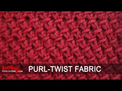 Purl Twist Fabric - YouTube