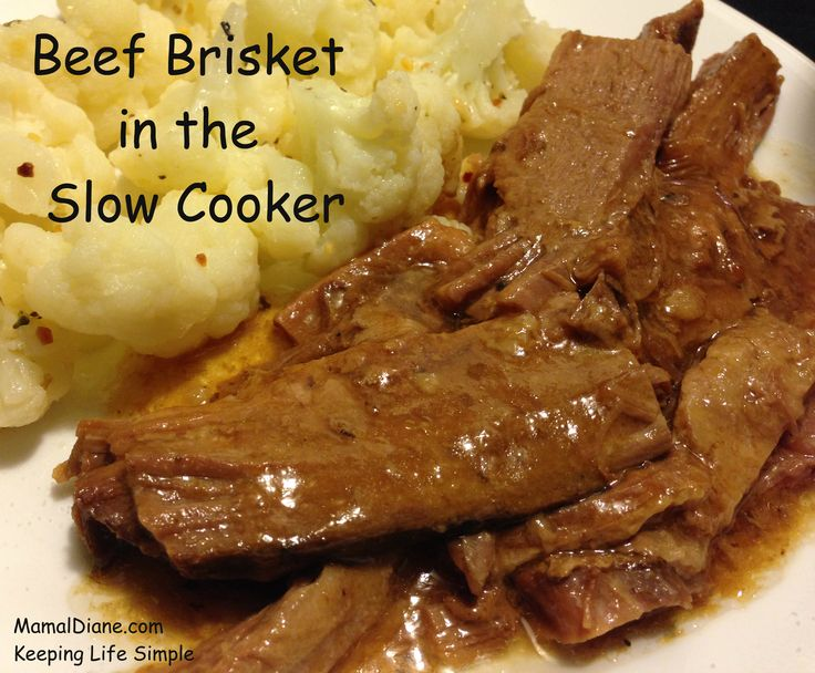 Beef Brisket in the Slow Cooker that is so fork tender you will be amazed.