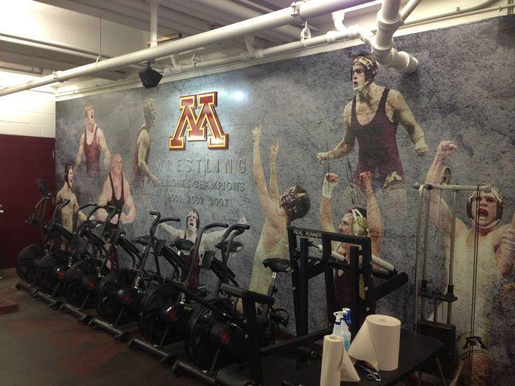 wrestling murals | University of Minnesota Wrestling Room Murals