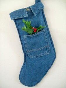 calza befana con i vecchi jeans