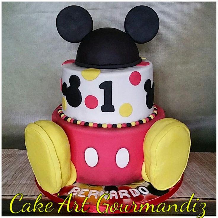 Gâteau d'anniversaire Mickey Mouse #mickeymouse #mickeymousecake