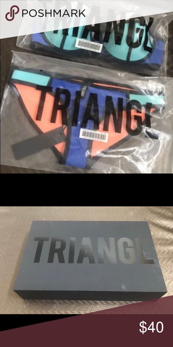 Xxs Neoprene TRIANGL bikini Brand new with tags, bags, protectors, and in box. Runs large (in my opinion). Triangle Swim Bikinis