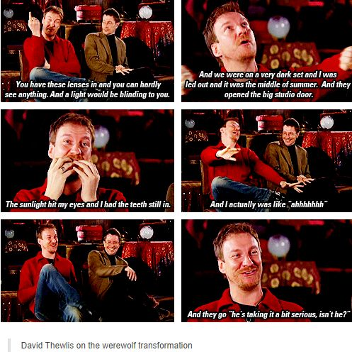 Harry Potter - David Thewlis (Lupin) overcharacterizing his werewolf transition.