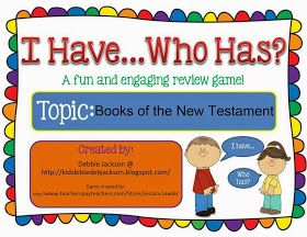 I Have... Who Has Game for Books of the New Testament Free Game printables #Biblefun #NTBiblelesson