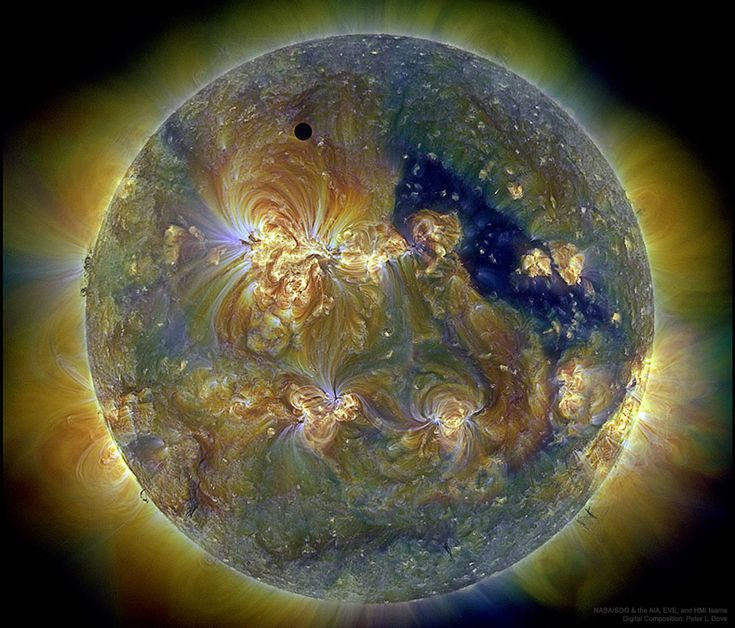 Venus and the Triply Ultraviolet Sun  Image Credit: NASA/SDO & the AIA, EVE, and HMI teams; Digital Composition: Peter L. Dove