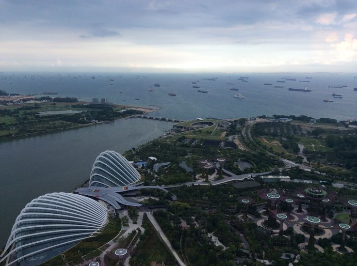 Peaceful view from Marina Bay Sands Top
