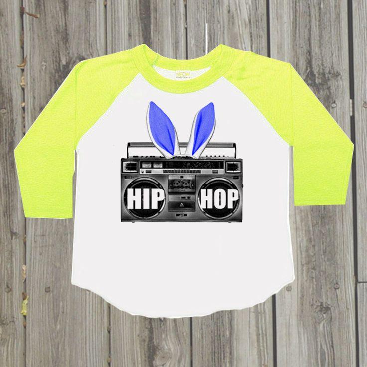Hip Hop shirt Baby boy Easter outfit Toddler raglan