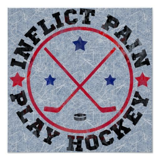 Inflict Pain Play Hockey Poster   hockey  icehockey  bumperstickersInflict