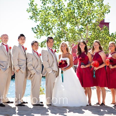 13 Best Red And Tan Bridal Court Ideas Images On Pinterest