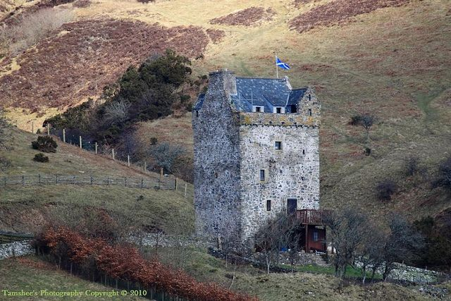 Aikwood Tower is a 16th-century tower house in the Scottish Borders area of Scotland, 4 miles southwest of the town of Selkirk, on the Ettrick Water.