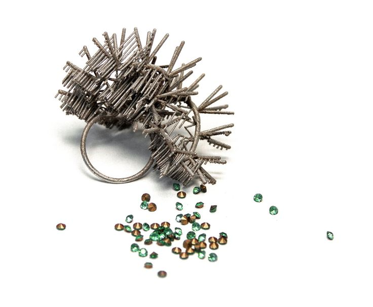 Adam Grinovich Ring: Untitled, 2014 3D print, stainless steel