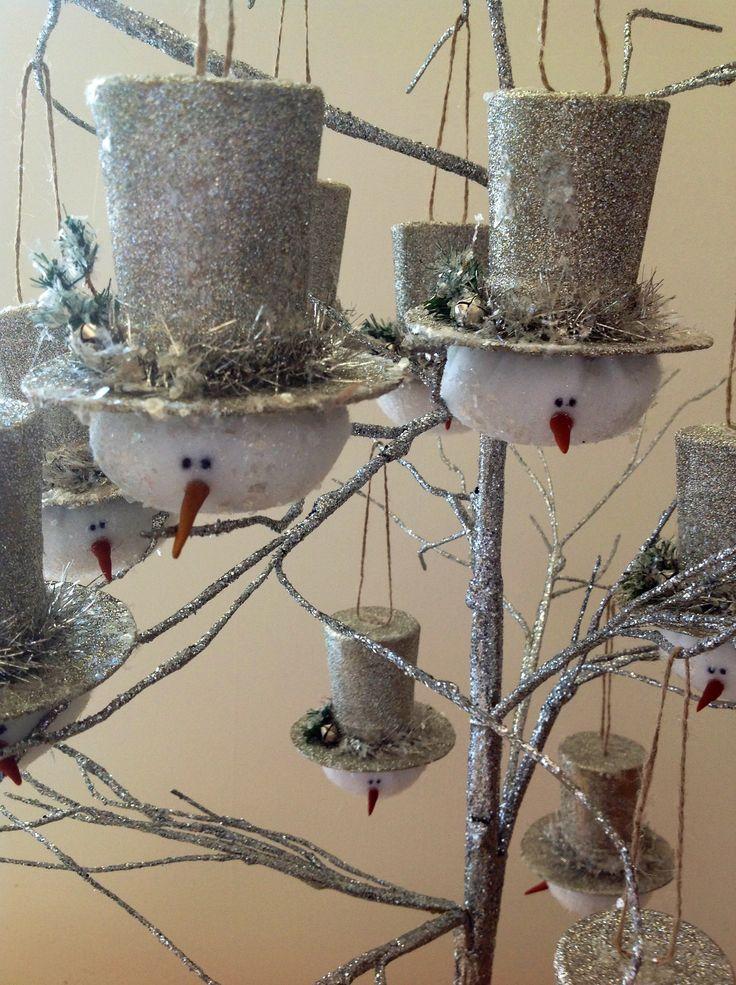 New snowman ornaments for Glitterfest! WWW.GLITTERFEST.COM