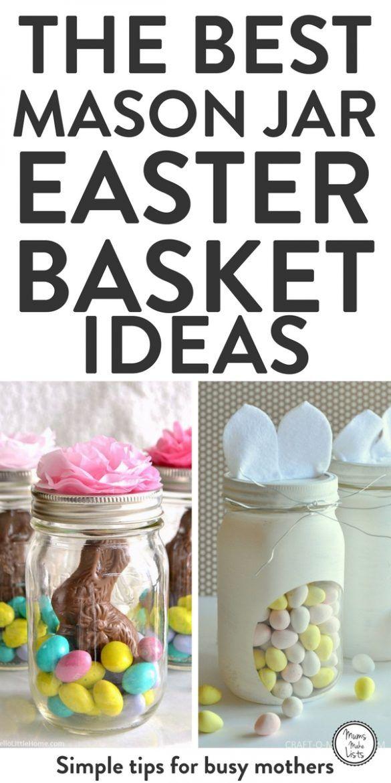 My Favourite Mason Jar Easter Basket Ideas Easter Mason Jars Mason Jar Diy Mason Jar Crafts Diy