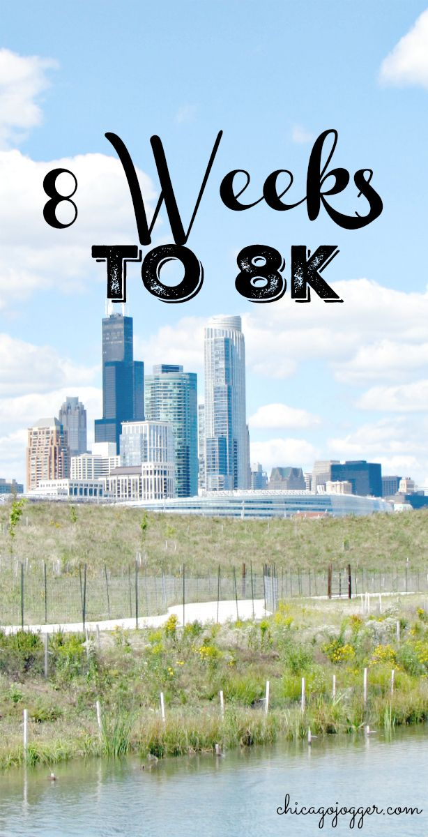 8 Weeks to 8k - An 8 week running plan to prepare for an 8k road race, with the goal of running three days per week. | chicagojogger.com