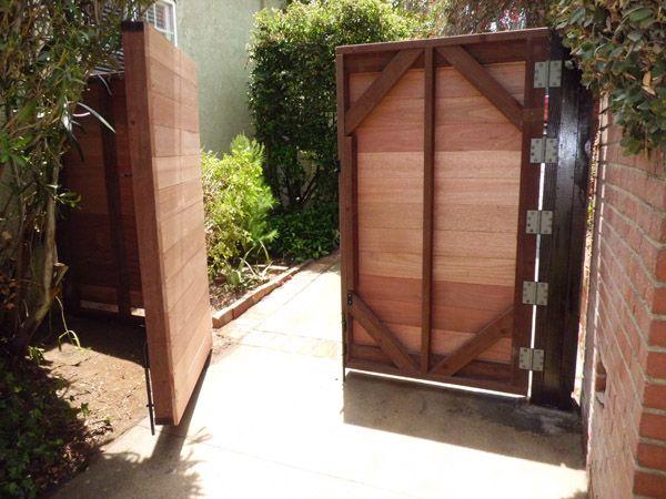 diy wooden gates