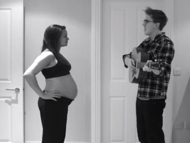 Vidéo : un musicien britannique filme chaque jour de la grossesse de sa femme
