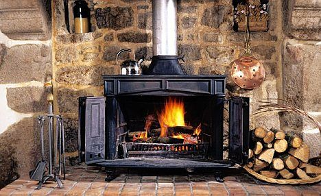 rustic franklin stove | Popular: A rustic-looking Franklin stove - but finding dry wood can be ...
