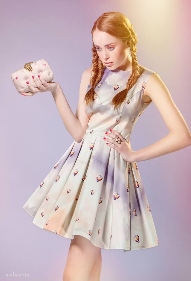 Carmen with Hand Chanel in Pink on eclectic-society.com Magazine