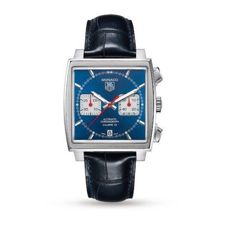 Mens Watches - TAG Heuer Monaco Calibre 12 Gents Watch - CAW2111.FC6183