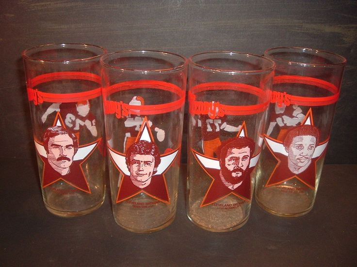 1981 Cleveland Browns | 1981 Wendys Cleveland Browns Drinking Glass Set of 4 | eBay
