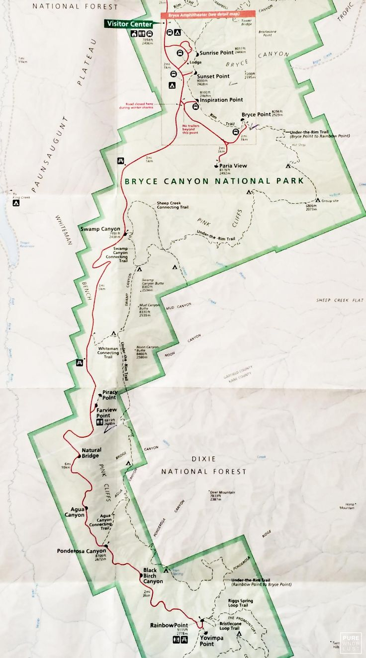 Best Bryce Canyon Map Ideas On Pinterest Grand National - Utah in us map