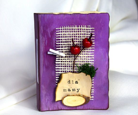 rustic journal handmade for her gift for woman Birthday gift