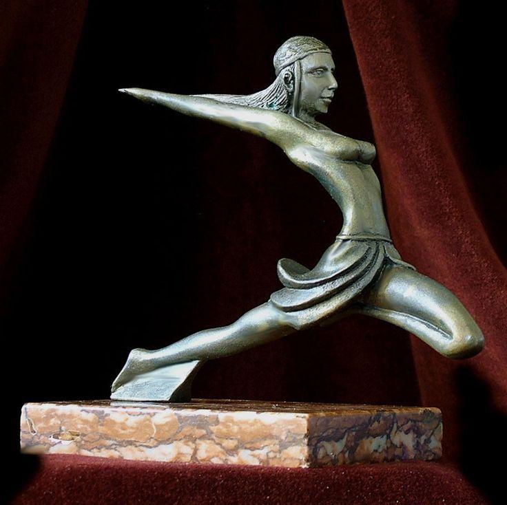 RARE French Bronze Art Deco Amazonian Dancer Mascot Signed Max Le Verrier C1925 | eBay