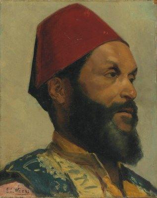 Edwin Lord Weeks (American, 1849-1903) Portrait of a Turkish Man