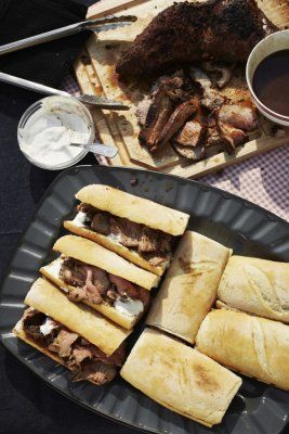 Tri Tip Dip Sandwich with Horseradish cream sauce- Guy Fieri