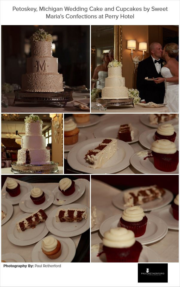 Sweet Marias Confections Wedding cakes and cupcakes Petoskey, Michigan photo by Paul Retherford Wedding Photography