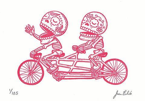 Sugar Skull Bike by Jose Pulido