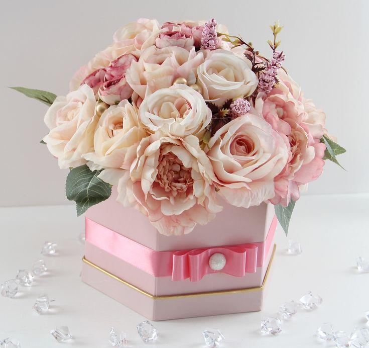 Duzy Bukiet Flower Box Floral Wreath Floral Decor
