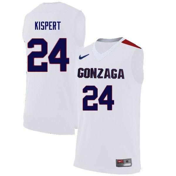 Men Gonzaga Bulldogs #24 Corey Kispert College Basketball Jerseys ...