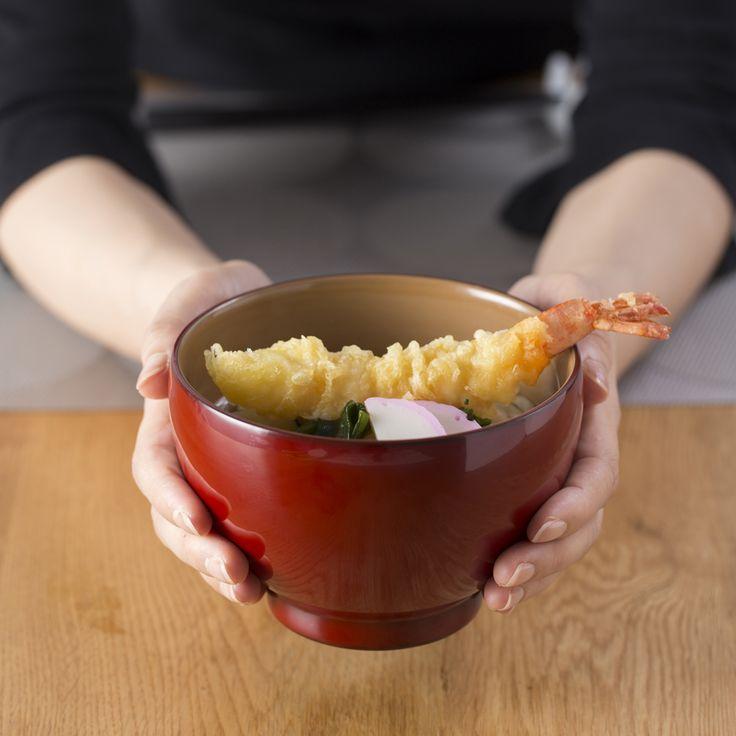海老天ぷら蕎麦。  Fudanシリーズ_ふくわん銀朱色   http://j-cocomo.jp