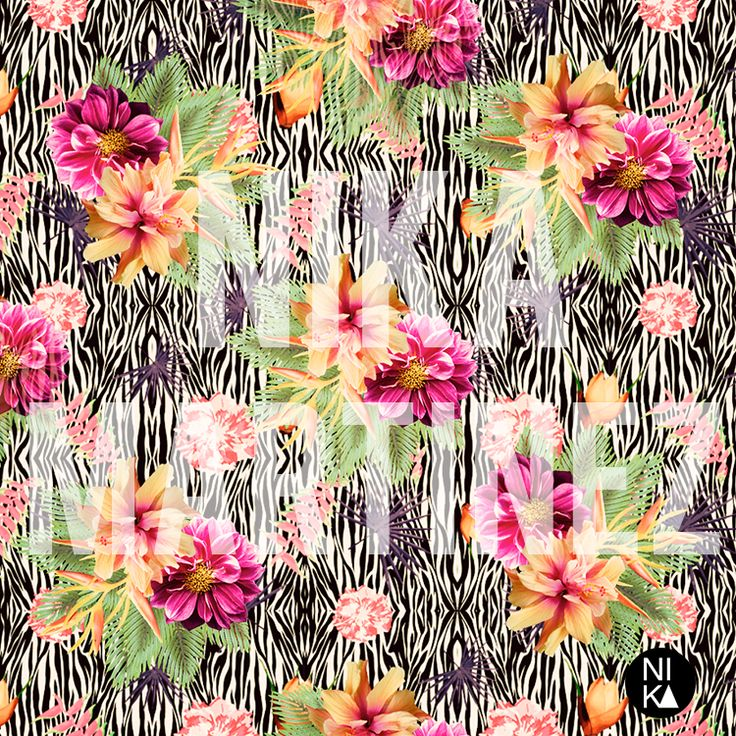 TROPICAL FUSSION BLOG HOP 2014 : Radiant Orchid #pattern #nika #martinez #tropical #floral #zebra #abstract #fashion