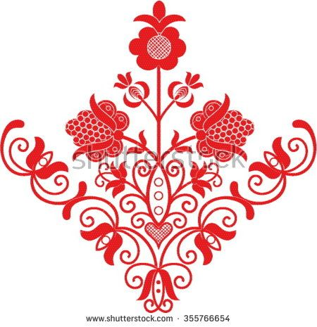 Hungarian folk art - stock vector